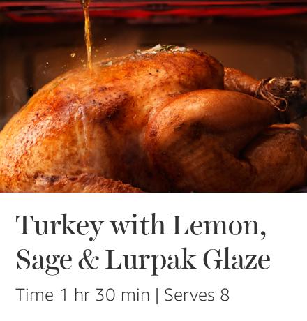 Turkey with Lemon, Sage & Lurpak Glaze
