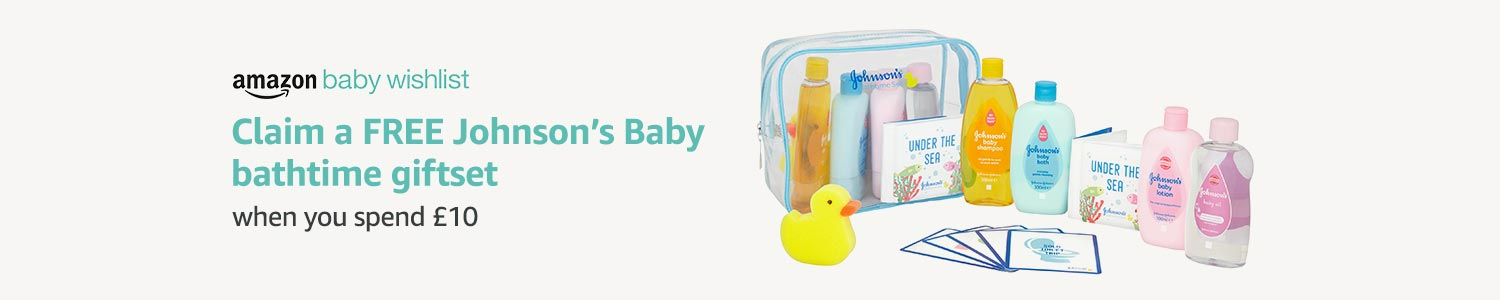 Claim a FREE Johnson's Baby Bathtime Giftset when you spend £10