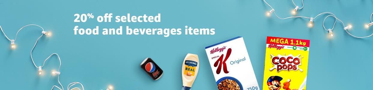 Save 20% off food & beverages