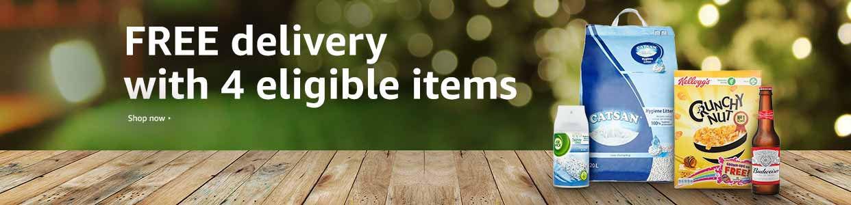 FREE delivery with purchase of 4 eligible items