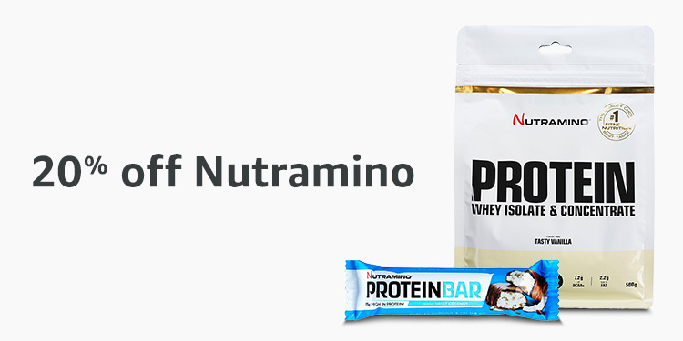 20% off Nutramino protein bars