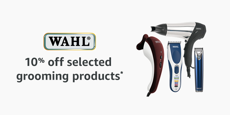 10% of selected Wahl grooming products
