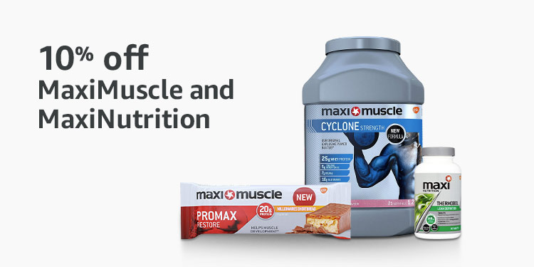 10% off MaxiMuscle and MaxiNutrition