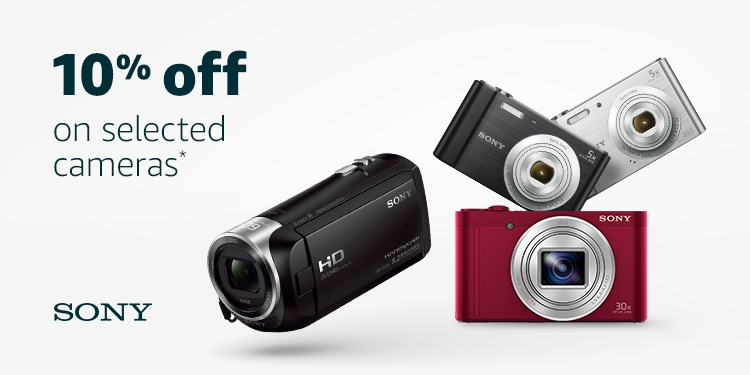 10% off selected Sony digital cameras