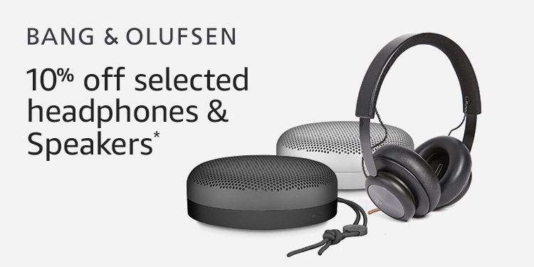 10% off selected Bang & Olufsen headphones and speakers