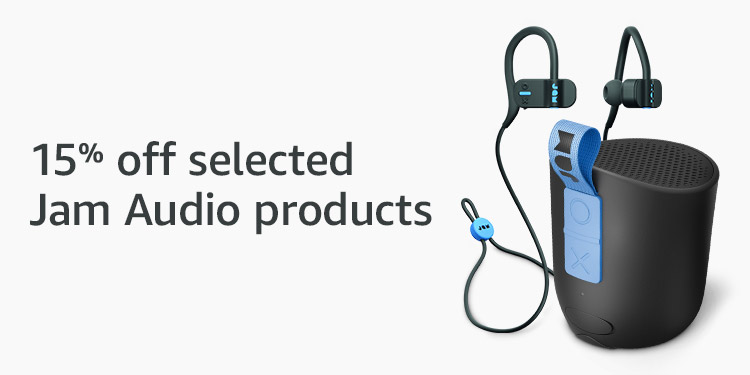 15% off selected Jam Audio products