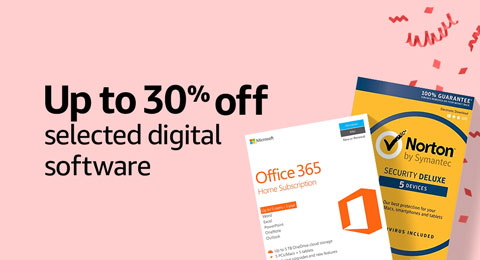 Up to 30% off selected digital software