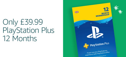 PlayStation Plus 12 months - only £39.99