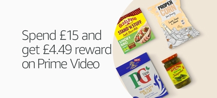 Spend £15 and get £4.49 reward on Prime Video