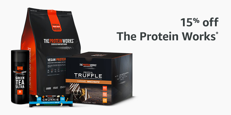 15% off selected The Protein Works products