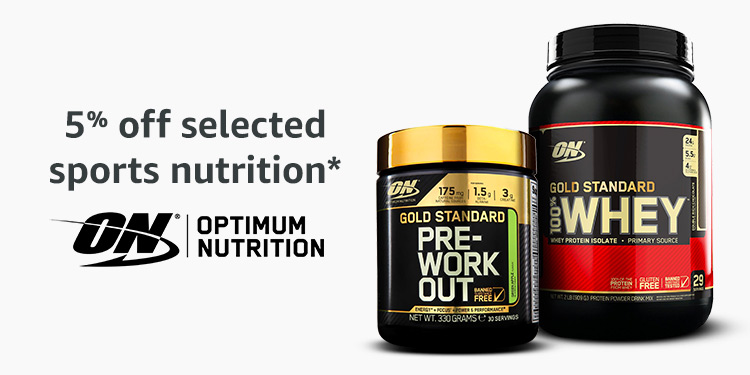 5% off Optimum Nutrition protein powders