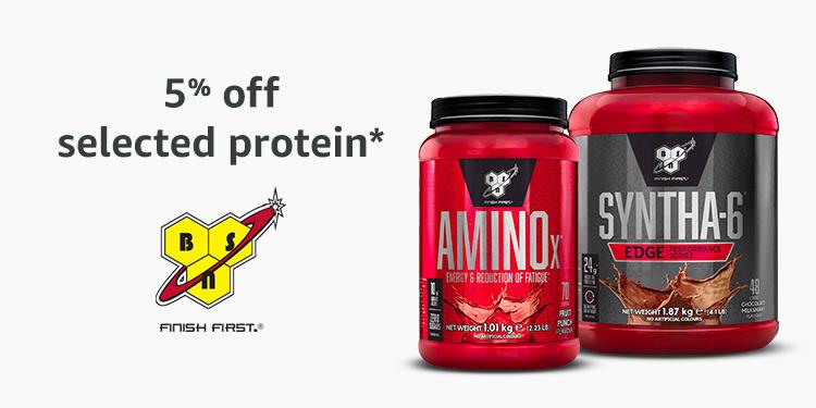 5% off BSN protein