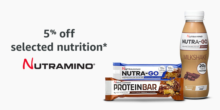 5% off Nutramino protein bars