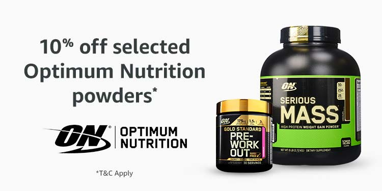 10% off Optimum Nutrition powders