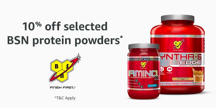 10% off BSN protein powders