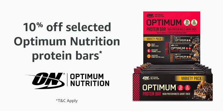 10% off Optimum Nutrition protein bars