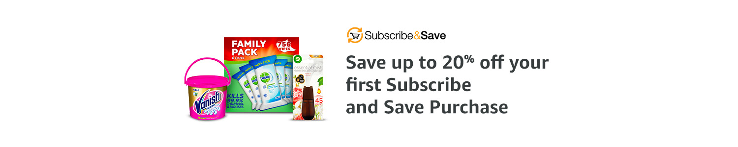 Save up to 20%  Subscribe and Save