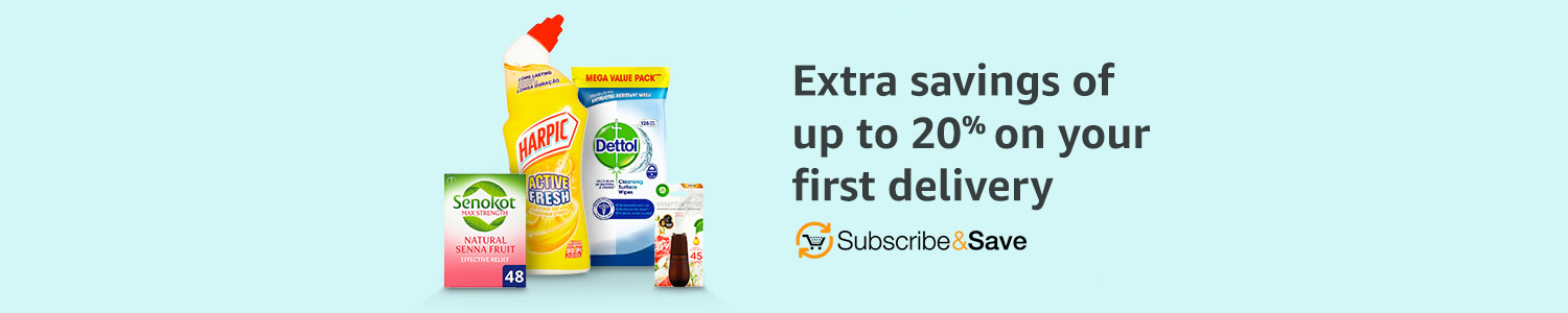 Save 20% off your first Subscribe and Save delivery across Household