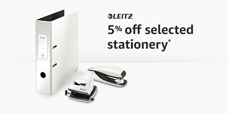 5% of selected Leitz stationery