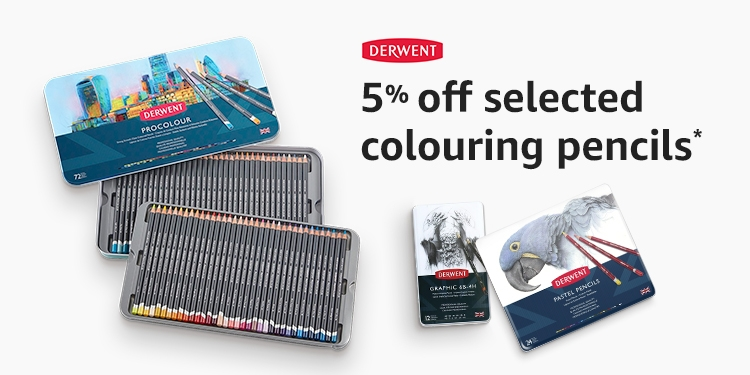 5% of selected Derwent colouring pencils