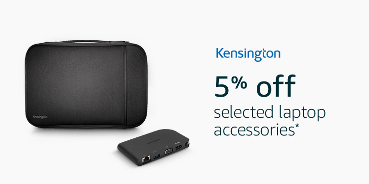 5% of selected Kensington laptop accessories