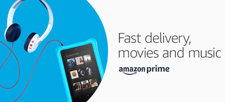 Fast delivery, movies and music with Amazon Prime