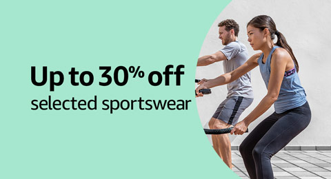 Up to 30% off selected sportswear