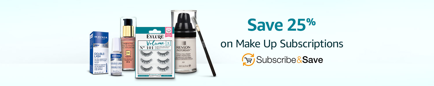 Up to 25% off repeat deliveries on Make Up