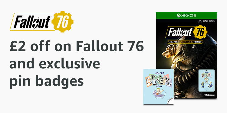 £2 off Fallout 76 and exclusive pin badges