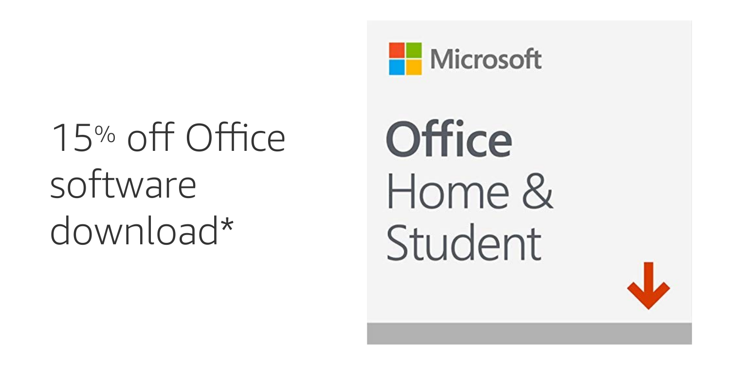 15% off Office Home & Student