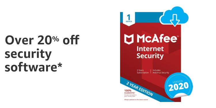 Over 20% off McAfee 2019 Total Protection