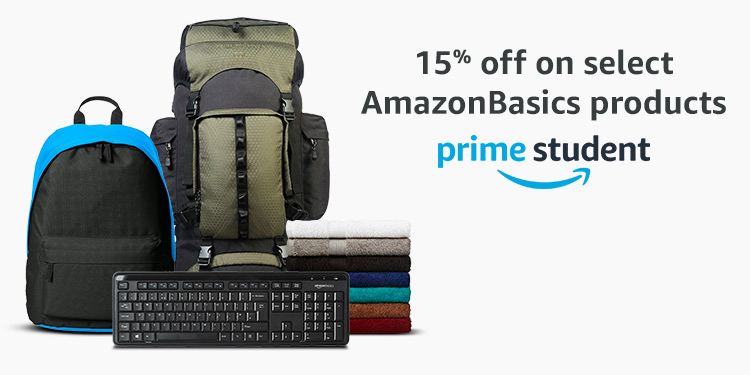15% on selected AmazonBasics products