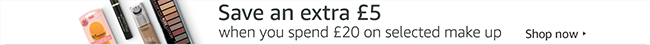 Save an extra £5 when you spend £20 on selected Make Up