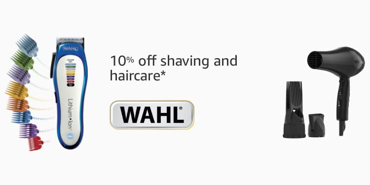 10% off Wahl shaving and hair care