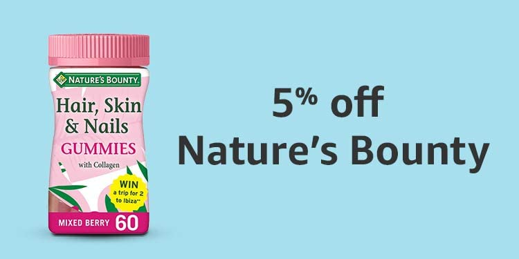 5% off Nature's Bounty vitamins