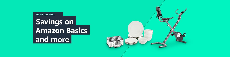 Savings on home and electronics Amazon Basics and more