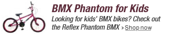 Reflex Kid's Phantom BMX Saddle