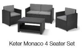 Keter Monaco 4 Seater Set