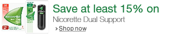 Save at least 15% on Nicorette Dual Support