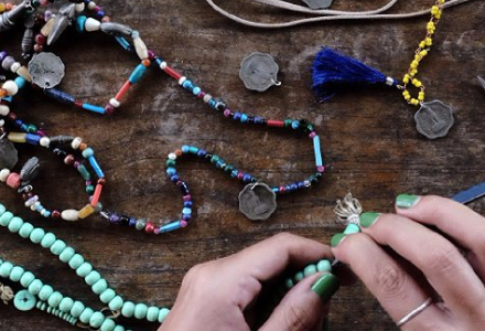 Shop Handmade Jewellery including bracelets, necklaces, earrings, rings and more.