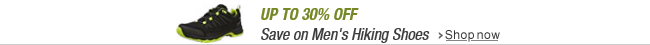 Up to 30% off men's hiking shoes