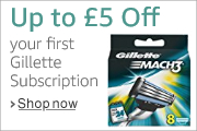 Save up to £5 on your first Gillette subscription