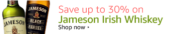 Save up to 30% on Jameson Irish Whiskey