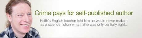 Crime pays for self-published author
