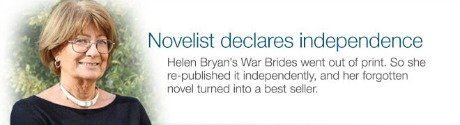 Novelist declares independence