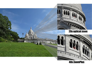 Capture beautiful shots from long distance with 20x zoom and get even closer with the ZoomPlus