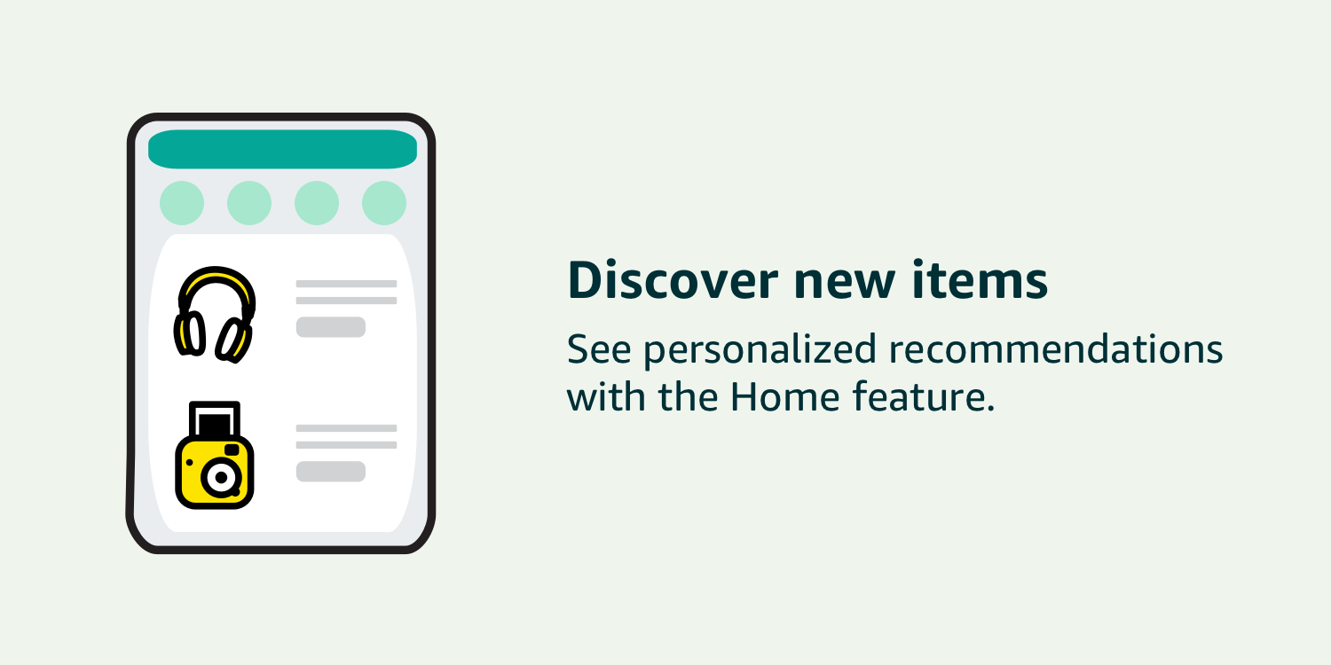 Discover new personalized recommendations