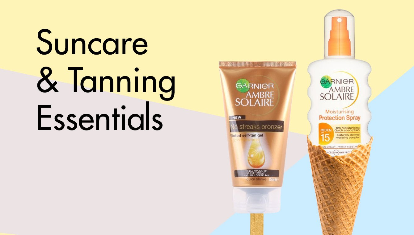 SUN CARE AND TANNING ESSENTIALS