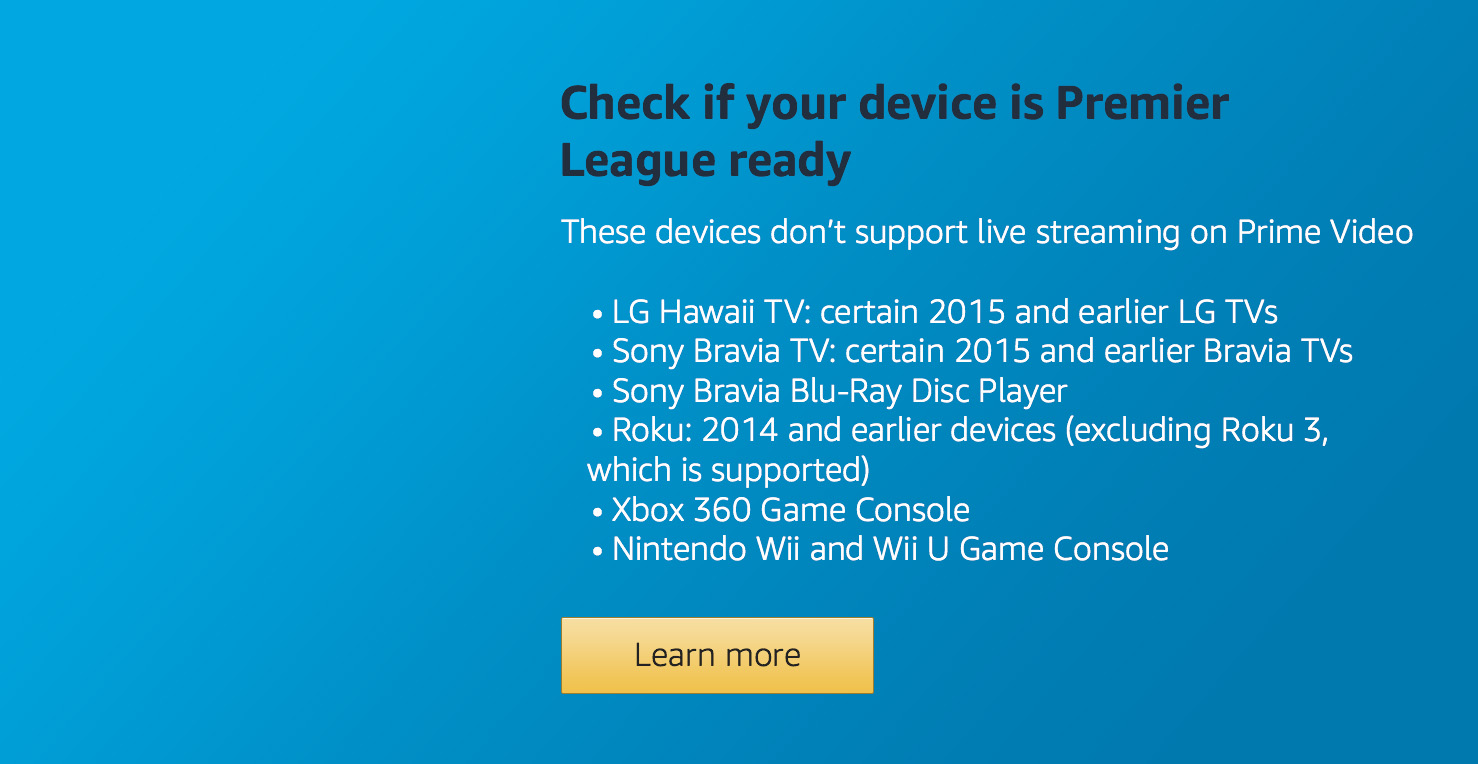 Is your device Premier League ready?