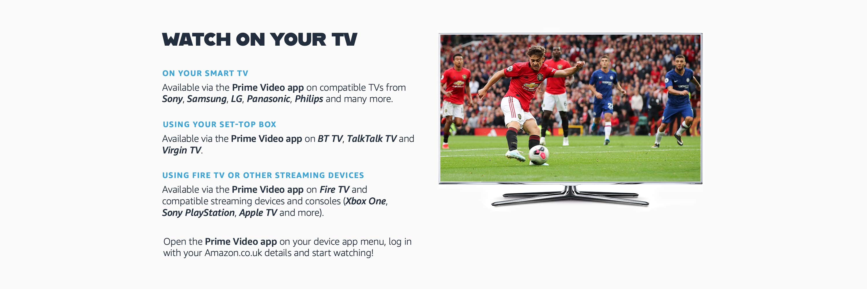 Watch on your TV